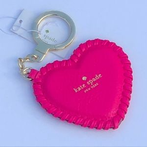 NWT! KATE SPADE Heart Whipstitch Keyholder
